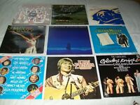 33 rpm. Joblot of 9. Nat King Cole, Shirley Bassey, Glenn Miller, Gladys Knight.