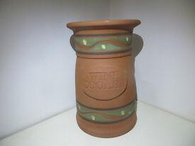 "Large Handmade Terracotta Platter Kiltea House 13"" / 33cm Irish Studio Pottery Plant Pot Stand Art"