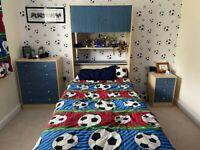 Malibu bedroom furniture - bed desk bedside cabinet draws and bed cupboard
