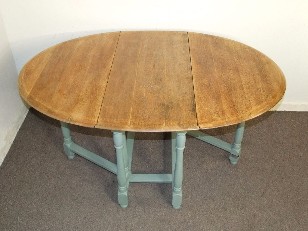VINTAGE SOLID GOLDEN OAK SHABBY CHIC DROP LEAF FARMHOUSE KITCHEN DINING TABLE