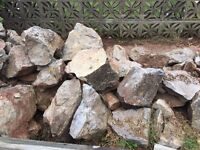Garden rockery stones various sizes £1 for small and £2 for larger ones.