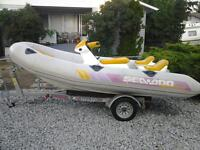 14' Sea Doo Explorer Zodiac  & Trailer