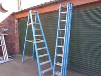 fibreglass triple ladder