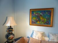 Original Modern Art Oil Painting by Local Artist John Hughes - painted in multi colours