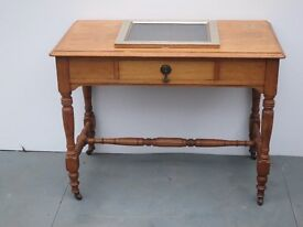 Solid Oak Hallway/Occasional Table with Drawer