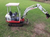 Takeuchi TB016 2011 digger - low miles - extendable tracks