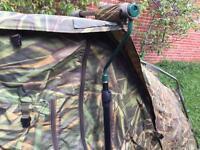 Nash viper camo / chameleon bivvy carp fishing set up tackle tent
