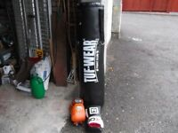 4ft Punchbag and two pair of gloves as new