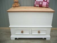 Stunning Pine Blanket Toy Box.