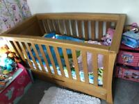 Mamas and papas ocean cot bed solid oak