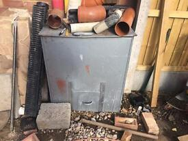 Used coal bunker