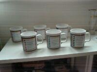 Vintage Trivual Pursuit Mugs