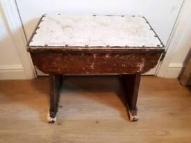 Vintage loom stool