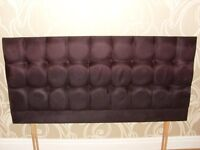 HEADBOARD BLACK DOUBLE BED