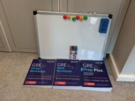 GRE Books and 60cm x 45cm Amazon Whiteboard - GRE Study Pack