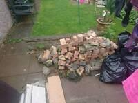 Reclaimed bricks hardcore