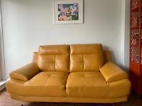 Yellow Leather Sofa New