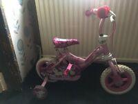Pink girls unicorn bike
