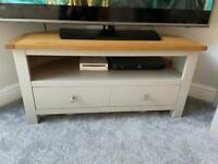 Dunelm Bromley grey corner tv unit