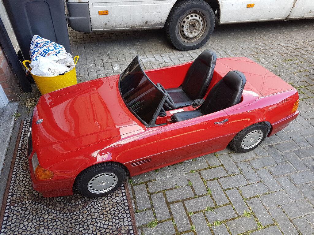 100cc Mercedes-Benz kids ride on petrol manual car (sit on, buggy, go kart, toy car)