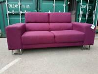 SALE!! NEW Designer Plum Purple Fabric Sofa DELIVERY AVAILABLE