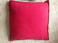4 large red M&S cushions