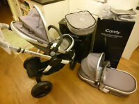 Brand New Boxed iCandy Peach Jogger (All Terrain)Stroller/Pushchair/Pram with Carrycot, Accessories
