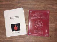 2 x black magic / spirit communication books