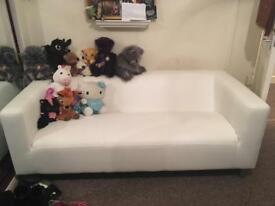White 3 seater sofa