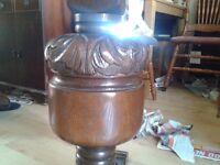 Round dining table, diameter 110cm, hand carved leg, solid oak, Jaycee Furniture