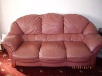 Immaculate Leather 3 seat sofa and 2 chairs