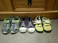 Boy's trainers and slippers size 8