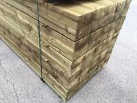 ☀️New Tanalised Wooden Treated Railway Sleepers ^ Top Quality