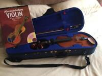 1/4 size violin and bow