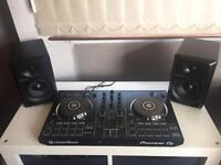 PIONEER DDJ-RB CONTROLLER + PIONEER DJ SPEAKERS