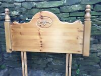 PINE WOODEN HEADBOARD FOR SINGLE BED