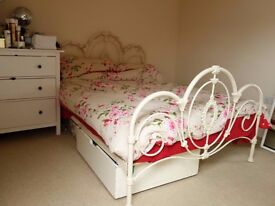 LAURA ASHLEY DOUBLE CREAM METAL SHABBY CHIC BED