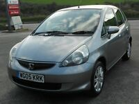 HONDA JAZZ 1.4 i-DSi SE, 2005, HONDA FSH, STORM SILVER, ALLOYS, A/C, CD, ISOFIX, LONG MOT, SUPERB