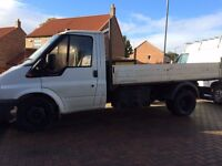 2000 transit twin wheel tipper 2.5td 350 mwb / new clutch ,mot ,low miles , well looked after