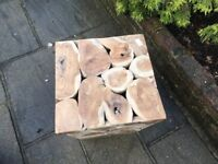 Garden Wooden Block Seat