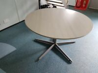 Light grey meeting table