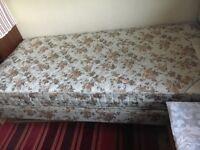 Single 3ft Rest Assured bed with matching mattress.