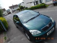 Toyota Corolla D4D Diesel with 12 months M.o.T (Not Mini,VW Golf,Polo,Astra,Fiesta,Ford)