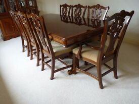 Luxury 8 seat dining table and chairs