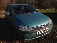 2003 Vauxhall Corsa C 1.0 12v club 3dr green manual z 397 3qu BREAKING FOR SPARES