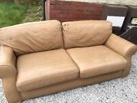 One year old leather sofa can deliver