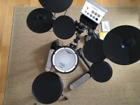 Roland HD-1 electric v drum lite with stool and headphones