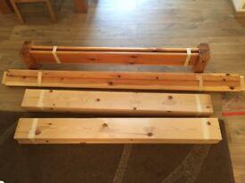 low platform wooden double bed frame