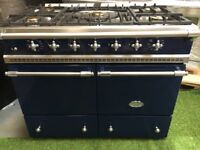 Lovely Lacanche Cluny Range cooker Navy blue and chrome luxury appliance