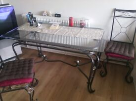 Glass table 4 chairs free